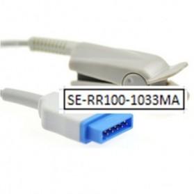 Sensor SPO2 dedo pediátrico, GE, 11 Pin, Clip, Tecnología Masimo