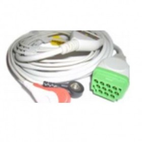 Cable Completo ECG, 11 Pin, 3 leads, GE Marquette