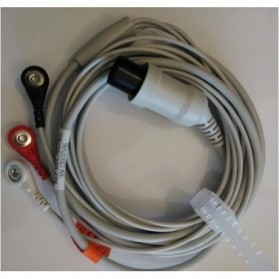 Cable Completo ECG, 6 Pin, 3 leads, Varias