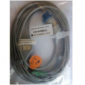 Cable Completo ECG, 10 Pin Hembra, 5 leads, Datex