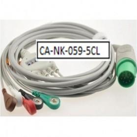 Cable Completo ECG, 11 Pin, 5 leads, Nihon Kohden