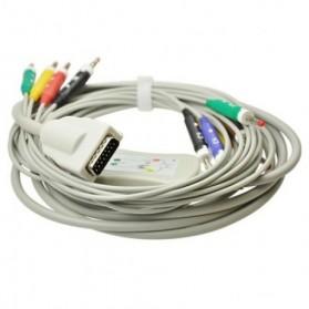 Cable EKG, 15 Pin, 10 leads, Burdick